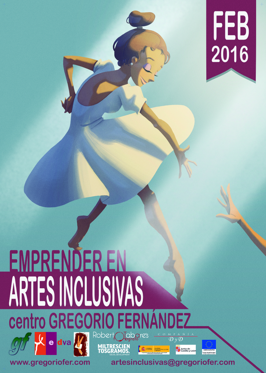 Cartel Emprender Artes Inclusivas