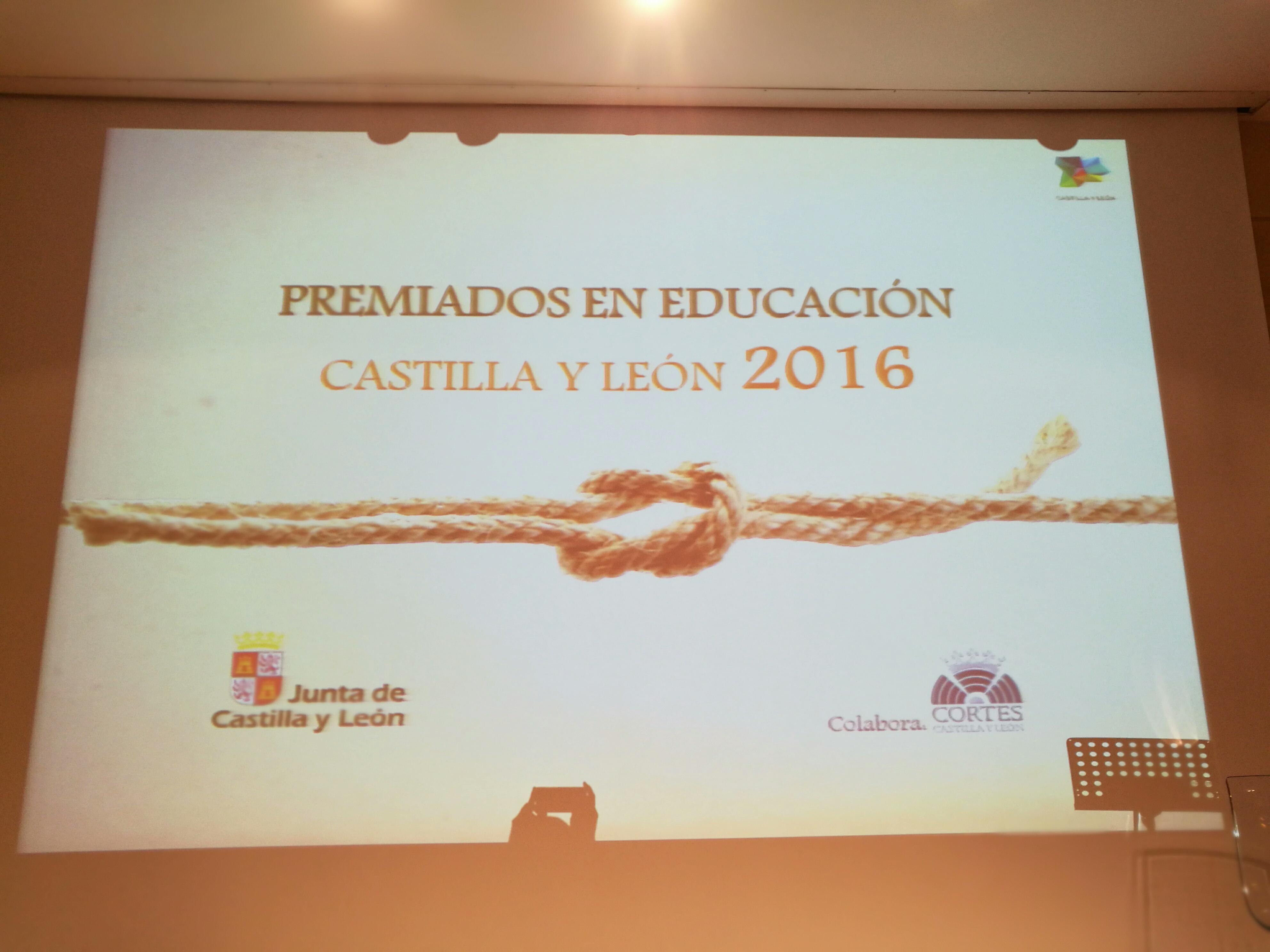 Premios educación Castilla y León 2016