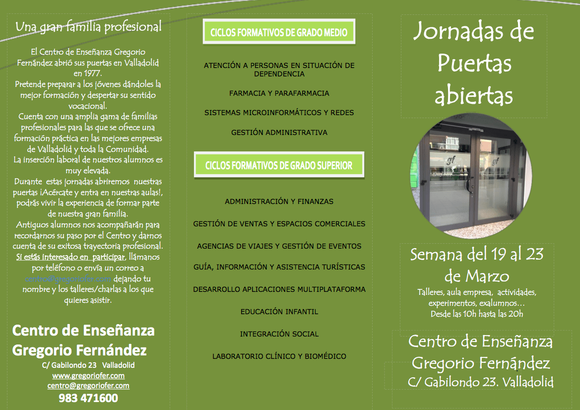 Semana De Puertas Abiertas 2018 Centro De Enseñanza