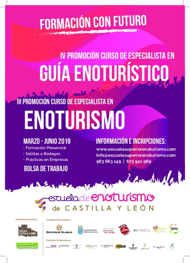 Cartel de especialista en Enoturismo