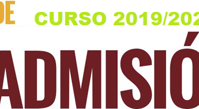 Proceso de admisión curso 2019-2020
